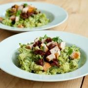 Italiaanse broccolistamppot met gerookte kip