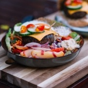 burger no bun salad