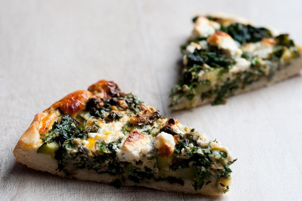 Hartige boerenkool-spinazietaart online diëtist