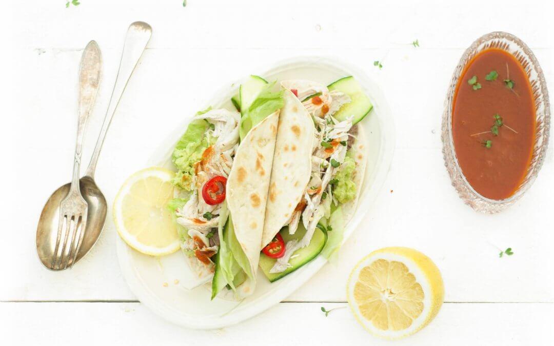 taco pulled chicken met avocado en chipotle online diëtist