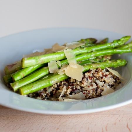 quinoa met groene asperges online diëtist