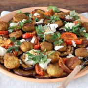 Salade met aubergine en falafel online diëtist