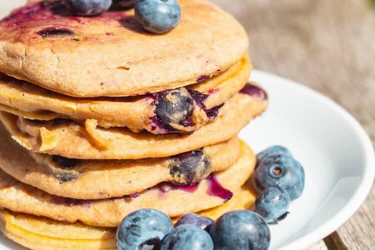 Vegan bleuberry pannenkoekjes