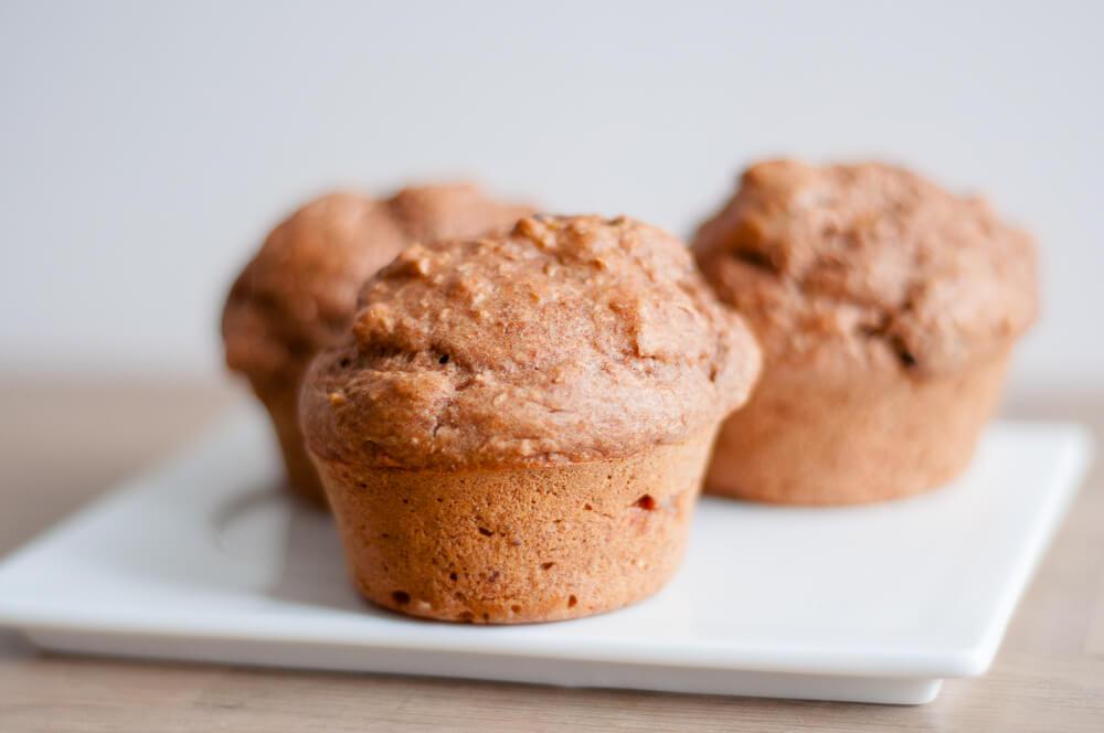 Muffins met gedroogd fruit